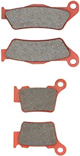 MEXITAL 1 Set Ceramic Brake Pads Front and Rear for KTM EXC SX 125 Six Days XC SX 150 200 EXC-F XC-W XC-F XCF-W EXC-F 250 SX-F 350 Upside Down Forks 400 EXC 450 Racing 500 EXC 525 530 MXC 300 SXC 625