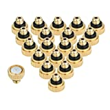 KUWAN 20pcs Brass Misting Nozzles for Cooling System 0.012' (0.3 mm) 10/24 UNC Garden