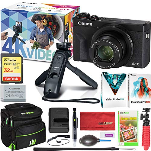 Canon PowerShot G7 X Mark III Video Creator Kit with G7X Mark III 4K Digital Camera