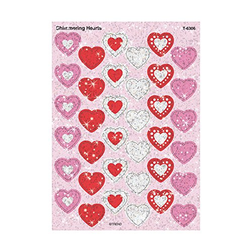 Shimmering Hearts Sparkle Stickers�