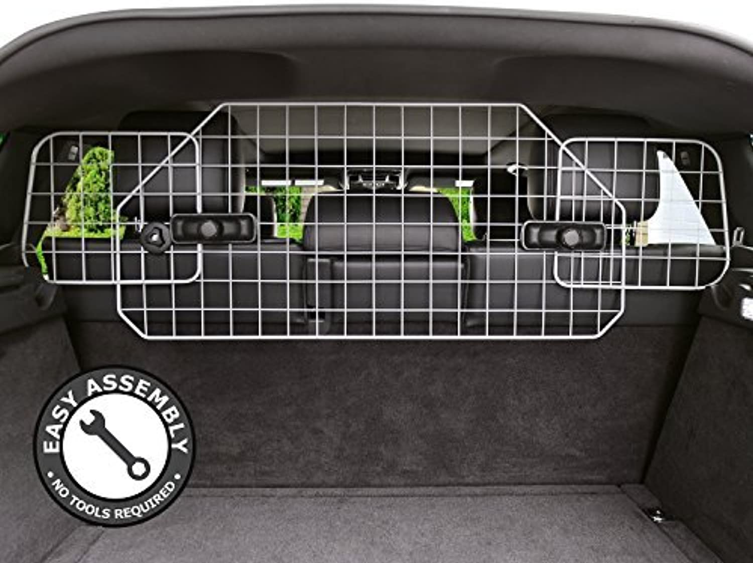 Dog Barrier for SUV's, Cars & Vehicles, HeavyDuty  Adjustable Pet Barrier, Universal Fit