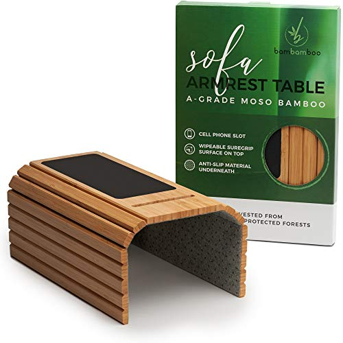 Bandeja de sofá de bambú