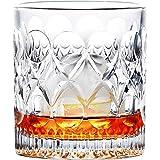 LZZDZK Bicchieri di Whisky di Moda, Whisky Scozzese, Bourbon, Cocktail, Rum, Bicchieri da Whisky Resistenti (Capacity : 270ml, Color : Clear 1 PCS)