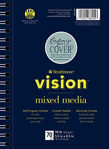 Strathmore (662-55 Vision Mixed Media Pad, Nicht zutreffend, Mehrfarbig, 21.59 x 17.01 x 2.54 cm