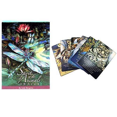 LHJY Tarot Cards Spirits of The Animals Oracle Juego De Cartas En Inglés Completo para Fiestas Tarjeta De Juego De Mesa Familiar Guía En PDF (2 Cajas)
