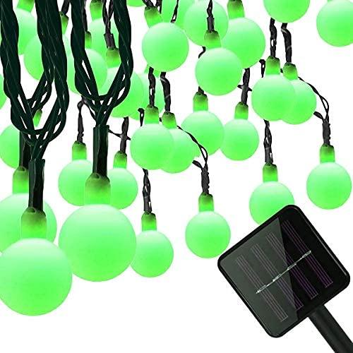 YXYY Luces solares de la cadena de la bola, 50 LEDs 24.5 pies/7 m Solar Grobe Cadena Luces Impermeable con dos modos de iluminación para el jardín fiesta al aire libre