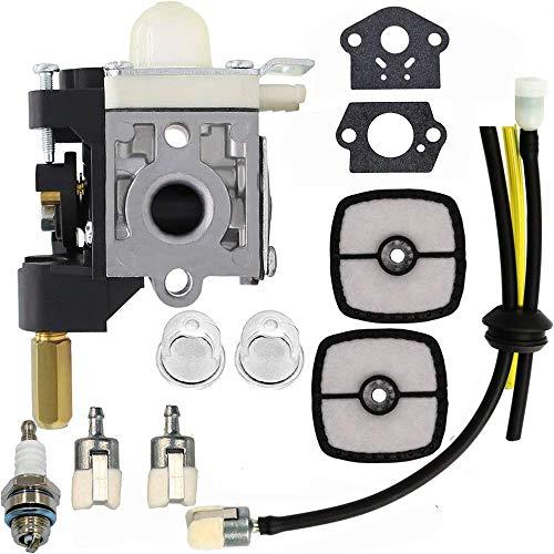 Hippotech RB-K75 A021000721 Carburador con Kit de Ajuste del Filtro de Aire para Echo SRM-210 SRM-211 SRM-211i SRM-211UGT200 GT201i Desbrozadora de Hilo