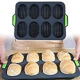 Moule à pain français 8 grilles, outils de cuisson DIY en silicone, plateau antiadhésif de bonne flexibilité pour la cuisson dans la cuisine