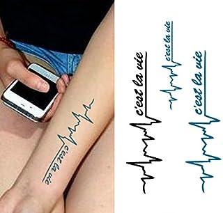 Temporäre Körperkunst Entfernbare Tattoo Aufkleber Herzsch