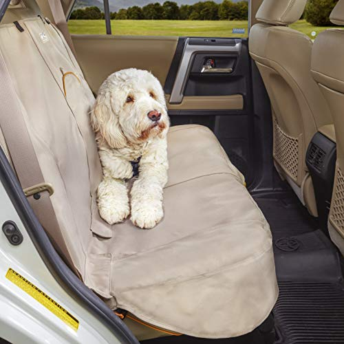 Kurgo Dog Car Seat Covers and Pet Car Bench Seat Covers, Universal Fit, Available in Hampton Sand/Khaki
