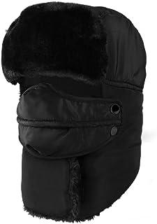 IPENNY Winter Windproof Warm Trooper Hat & Trapper Ushanka Hat Beanie Warm Hats Men Women Outdoor Skiing Sport Thermal Riding Hat