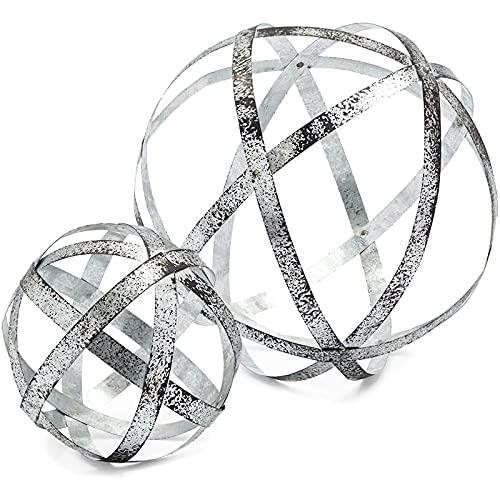 Farmlyn Creek Silver Metal Spheres for Table