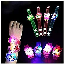 Kids Dukaan Rakhi for Kids with LED Light Cartoon Characters Bracelets and Birthday Return Gift. (Set of 3)