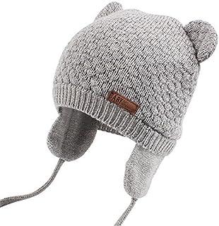 XIAOHAWANG Baby Hat Cute Bear Toddler Earflap Beanie Warm...