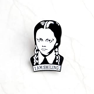 Best wednesday addams i am smiling pin Reviews