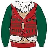 Goodstoworld Perro Ropa de Navidad 3D Hombre Mujer Funny Divertida Navideños Elfo Impreso Jerseys Traje de Christmas Sweater S