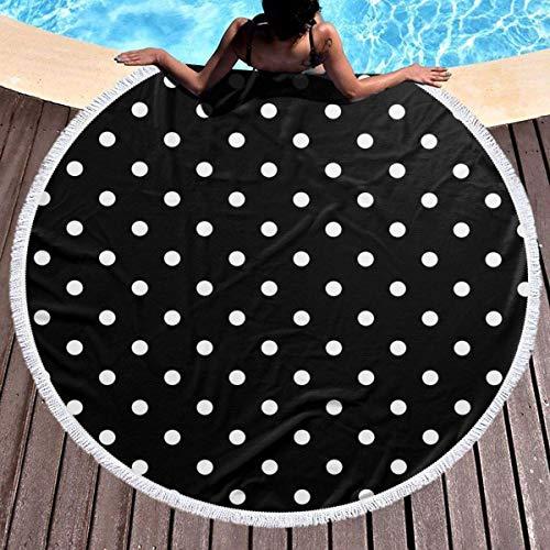 Not Applicable Round Yoga Mat,Toalla De Playa Redonda De Lunares, Toallas De Baño Redondas Hermosas Coloridas,150x150cm