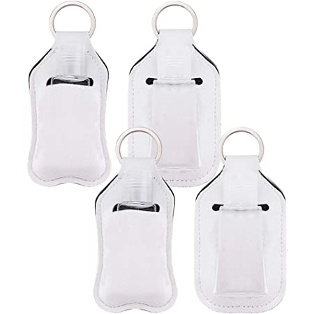 Hand sanitizer key chain for sublimation with extra carabiner hook and empty refillable bottle! 40 PACK