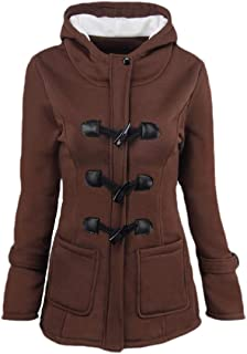 Women's Button Up Fall Casual Long-Sleeved Hoodie Jackets Outwears