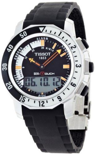 Tissot T0264201728100 - Reloj de Cuarzo para Hombre, con Correa de Goma, Color Negro