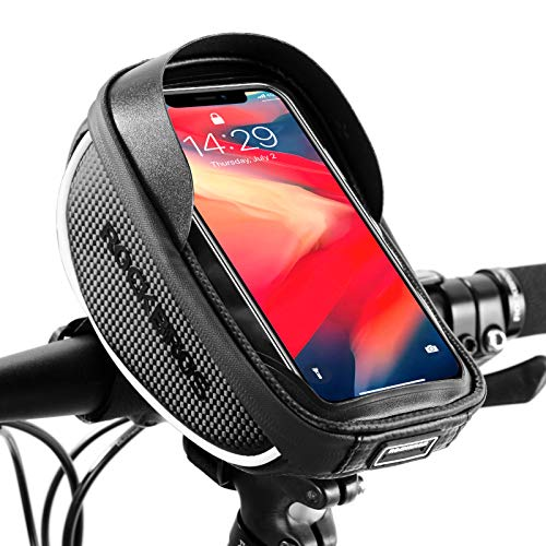 "ROCKBROS Bike Phone Mount Bag Bike Bicycle Phone Front Frame Bag Waterproof Bike Phone Holder Handlebar Bags for Mountain & Road Bike Fit Phone Under 6.5"" iPhone 11 Pro Max S10 Plus"