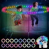 Mostof 10M LED Trampolin Lichter Besser für 1.8M 2.4M 3M Trampolin, Fernbedienung 16 Farben ändern, IP44 Wasserdicht, hell, um nachts im Freien zu Spielen