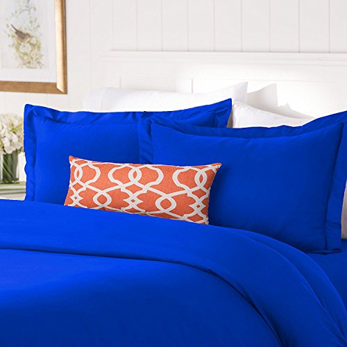 Elegant Comfort #1 Best Bedding Duvet Cover Set! 1500 Thread Count Egyptian Quality Luxurious Silky-Soft Wrinkle Free 2-Piece Duvet Cover Set, Twin/Twin XL, Royal Blue