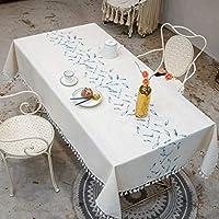 WZHZJ タッセル防水耐水性の厚い長方形の結婚式の食事茶テーブルクロス (Size : 140*220cm)