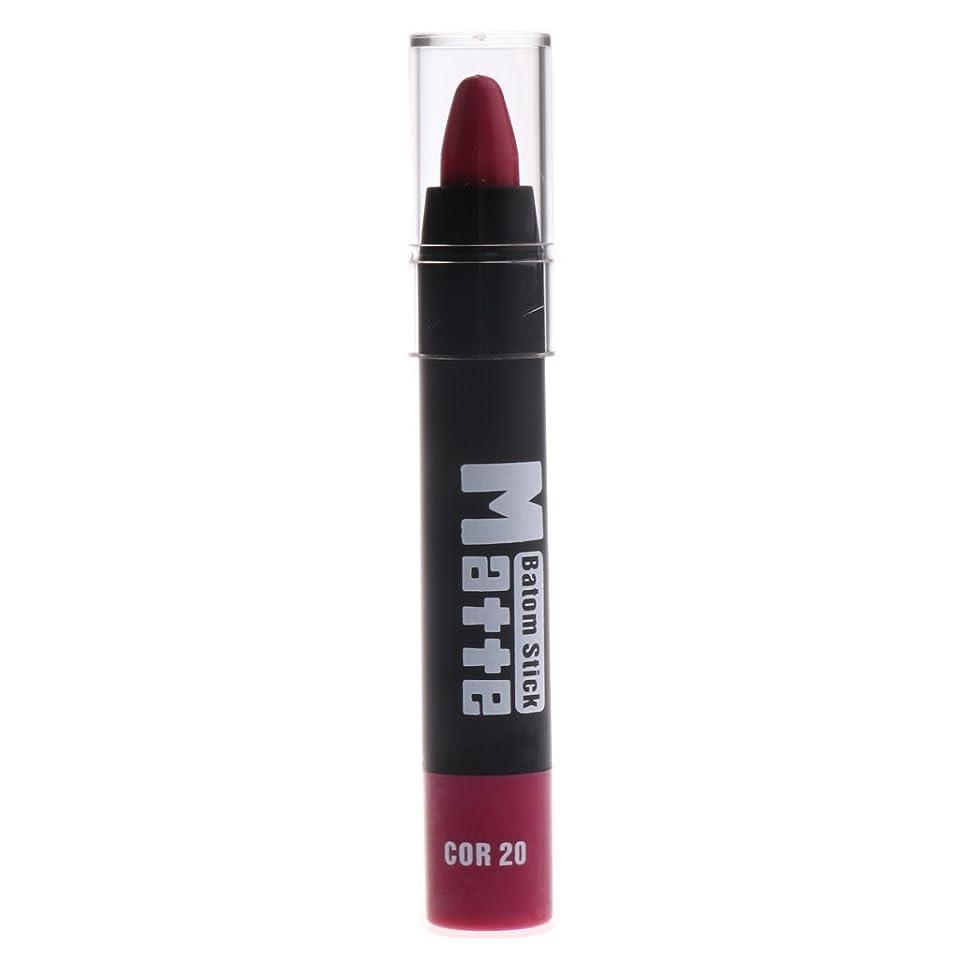 矛盾する違反する動機DYNWAVE マットリップスティック 口紅筆 約11x1.7x1.7cm ポータブルサイズ 全5色 - #B