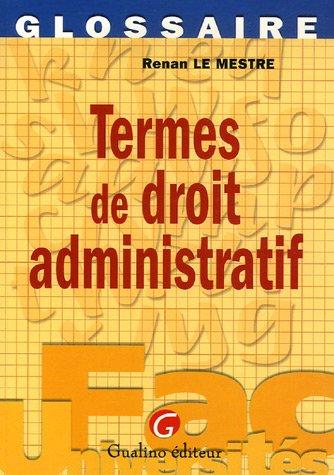 Termes de droit administratif