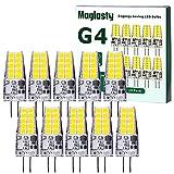 Bombillas LED G4, AC/DC 12V, 3W Equivalente a Lámparas Halógenas de 30W, Blanco Frio 6000K, Sin Parpadeo, No Regulable,...