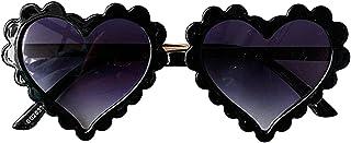 Ocobetom - Gafas de sol para niños pequeños, con forma de corazón, multicolor, vintage, bonitas, para fiestas, playa, fotografía, viajes