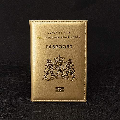 HMG Tarjeta de crédito Titular Clip ID de documento Bolsa de Dinero Holder (Rosa) (Color : Gold)