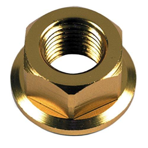 Mutter Radachse Aluminium Gold eloxiert - M12x1,25