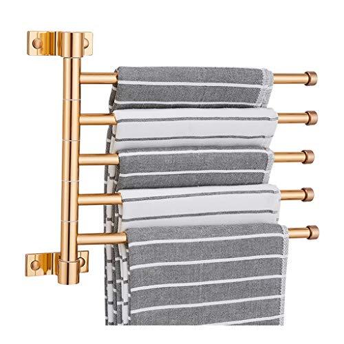 MaxTom Toallero de Hotel Barra de suspensión de Aluminio con Acabado Pulido para Cocina, baños, lavabos, armarios, Impermeables y a Prueba de Herrumbre (Color : Gold, Size : 28×5×26cm)