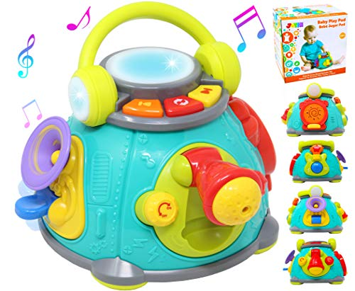 Why Should You Buy JOYIN Musical Activity Cube Play Center Baby Toy with LED Light Up for Infants, T...