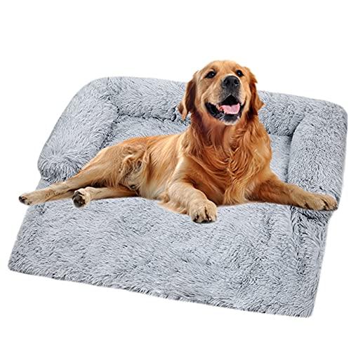 Sofá de felpa ultra suave para perro, cama de perro, manta mediana calmante para gatos, cojines desmontables y lavables para...