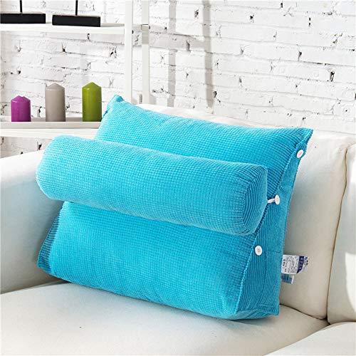 Bed-wigkussen voor verlichting van zure reflux, snurken, brandend maagzuur, nek- en rugpijn - Verstelbare rugleuning, leeskussen, wigkussen,7,45x50x23cm