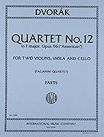 ドヴォルザーク: 弦楽四重奏曲 第12番 ヘ長調 Op.96 「アメリカ」/インターナショナル・ミュージック社/室内楽パート譜セット 四重奏