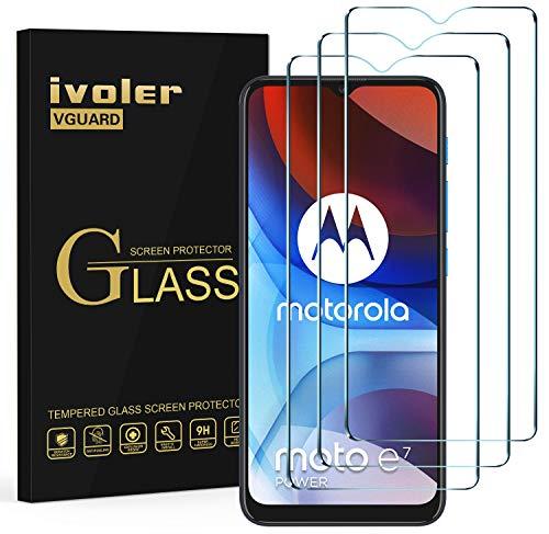 ivoler 3X Panzerglas Schutzfolie für Nokia G10 / G20 / Motorola E7 / E7 Power / E7i Power/Realme 7i / 6i / 5i / 5 / C3 / C11 / C21 / Narzo 30A / Vivo Y11s / Y20s / Wiko View 4 / Samsung Galaxy A90