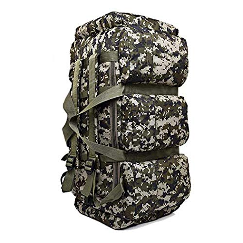 90L de gran capacidad al aire libre camping hombres Militar táctica mochila impermeable Oxford equipaje senderismo escalada bolsa, Hombre, 01 Camo, as picture