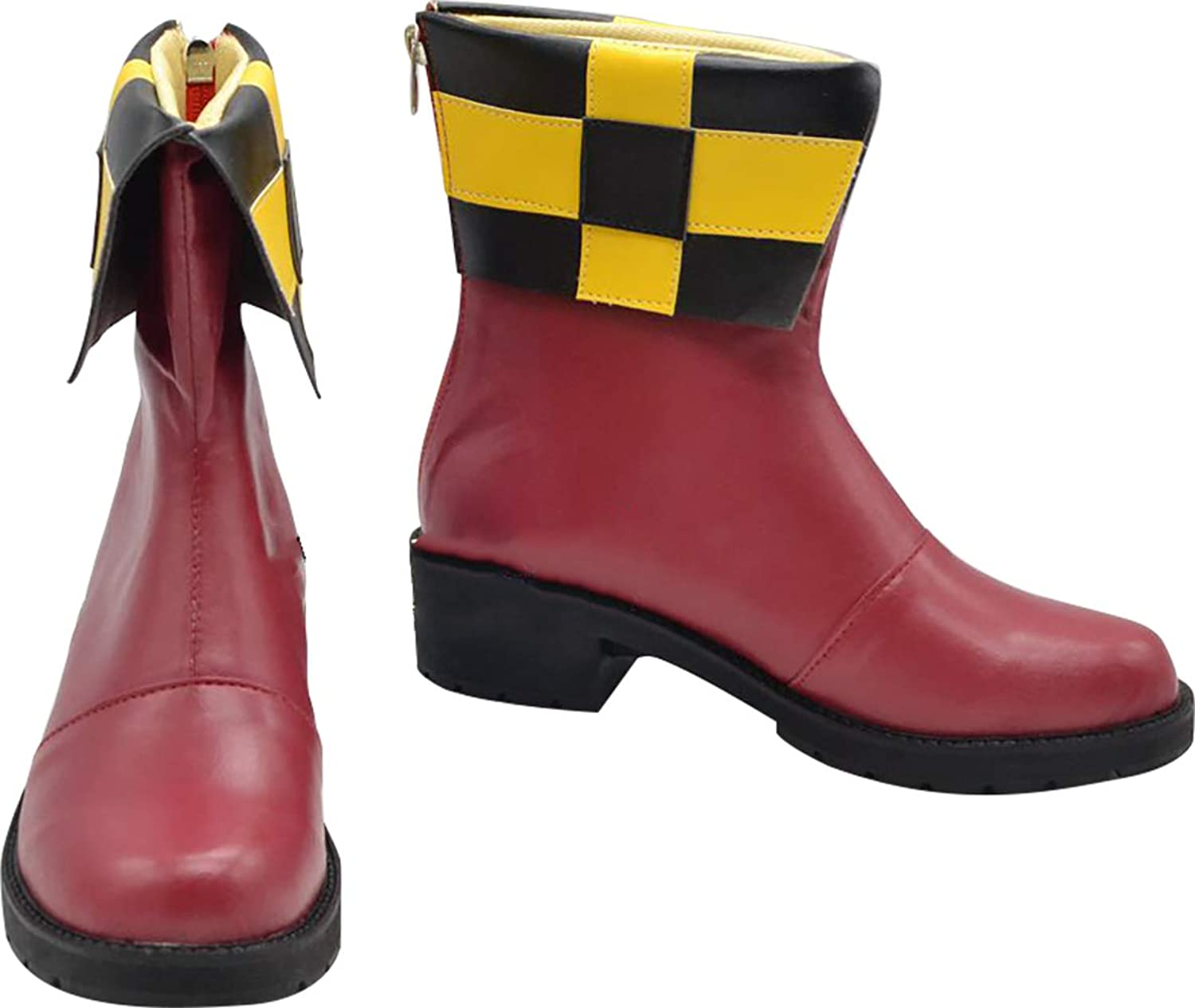 GSFDHDJS Cosplay Boots shoes for Ludere Deorum Loki Laevatein red