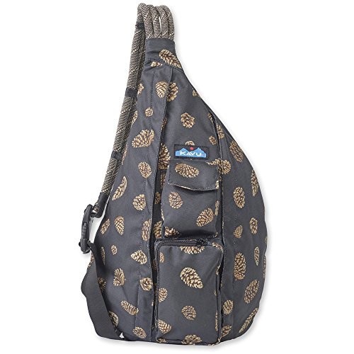 KAVU Women's Rope Sling Backpack, Pine Cones, One Size