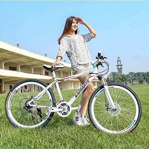 MJY Mountain Bikes, 26 inch Mountain Trail Bike, High-Carbon Steel Frame, Men's Womens All Terrain Mountain Bike with Dual Disc Brake 6-11,27 Speed