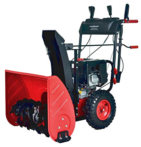 PowerSmart PSS2240C 24 in. 212cc 2-Stage Electric Start Gas Snow Blower (with...
