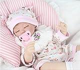 AMPretty Lifelike Reborn Baby Dolls Soft Silicone 18inch Real Girl/Boy Baby Dolls Lovely