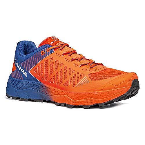 Scarpa SPIN Ultra, Zapatillas de Trail Running Hombre, Orange Fluo-Galaxy Blue ARS6 Velox MAX LB, 45 EU