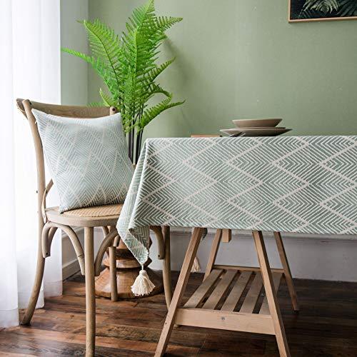 XXDD Ola triángulo Mantel Jacquard Mantel Minimalista Moderno Mesa de Comedor en casa Cubierta de Mesa de café Toalla rectángulo A3 150x210cm