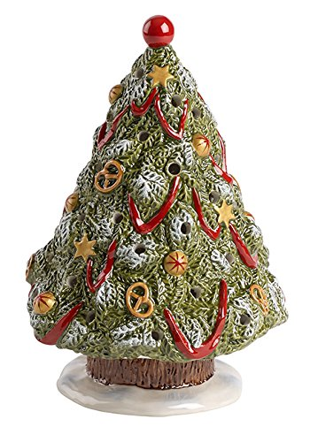 Villeroy & Boch Nostalgic Christmas Market Weihnachtsbaum, Porzellan, Grün, 15,5x15,5x22,9cm