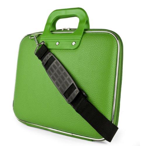 SumacLife Cady Schultertasche für Tablets, iPad, Galaxy, Yoga, Transformer Pad, Omni, MeMO Pad, ThinkPad, IdeaTab und andere Grün grün 11-12 in.